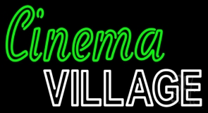 Cinema Village LED Neon Sign