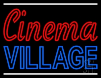 Cinema Village With Line LED Neon Sign