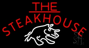 The Steakhouse With Symbol Neon Sign