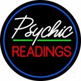 Green Psychic Readings With Border Neon Sign