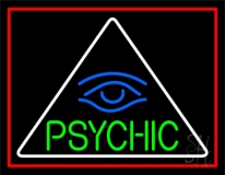 Green Psychic With Blue Eye Neon Sign