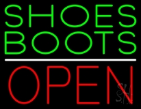 Green Shoes Boots Open Neon Sign
