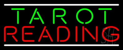 Green Tarot Red Reading And White Line LED Neon Sign