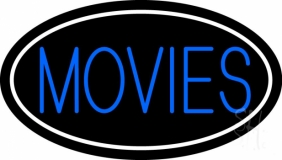 Movies With Border Neon Sign