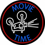 Movie Time With Border Neon Sign