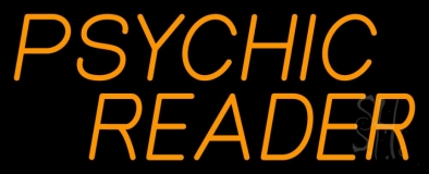 Orange Psychic Reader Neon Sign