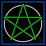 Pentacle With Border Neon Sign
