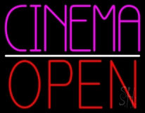 Pink Cinema Open LED Neon Sign