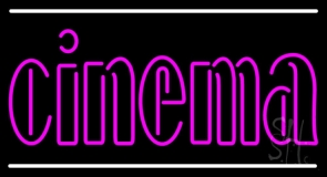 Pink Cinema With Line LED Neon Sign