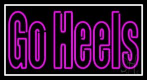 Pink Go Heels With Border Neon Sign