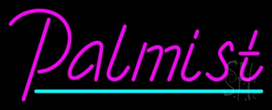 Pink Palmist With Turquoise Line LED Neon Sign