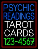 Psychic Readings Tarot Cards Phone Number Neon Sign