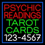 Psychic Readings Tarot Cards With Phone Number Neon Sign