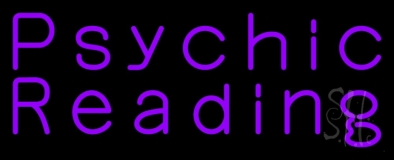 Purple Psychic Reading Neon Sign