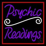 Purple Psychic Readings With Red Border Neon Sign