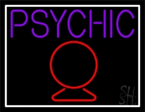 Purple Psychic With Crystal Neon Sign