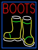 Red Boots With Logo Neon Sign