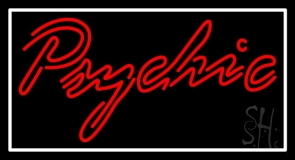 Red Double Stroke White Psychic Neon Sign