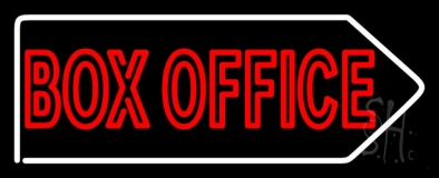 Red Doubl Stroke  Box Office Neon Sign