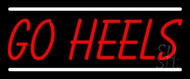 Red Go Heels Neon Sign