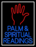 Red Palm And Blue Palm And Spiritual Readings Neon Sign