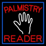 Red Palmistry Reader Neon Sign