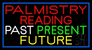 Red Palmistry Reading LED Neon Sign