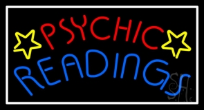 Red Psychic Blue Readings Neon Sign