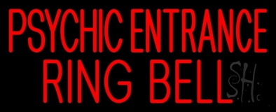 Red Psychic Entrance Ring Bell Neon Sign
