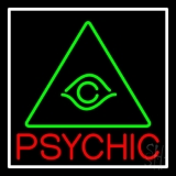 Red Psychic Green Logo Neon Sign