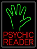 Red Psychic Reader Green Palm Neon Sign