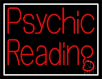 Red Psychic Reading And Border Neon Sign