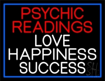 Red Psychic Readings And Love Happiness With Border Success Neon Sign