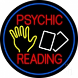 Red Psychic Readings With Logo And Border Neon Sign