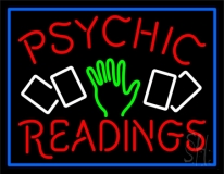 Red Psychic Readings With Logo Neon Sign