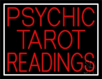 Red Psychic Tarot Readings Block LED Neon Sign