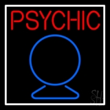 Red Psychic With Crystal Neon Sign