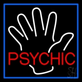 Red Psychic With Palm Neon Sign