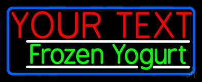 Custom Made Frozen Yogurt Neon Sign