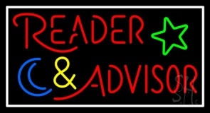 Red Reader Advisor With Border Neon Sign