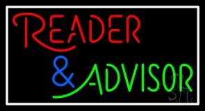 Red Reader And Green Advisor Neon Sign