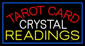 Red Tarot Card Crystal Readings LED Neon Sign