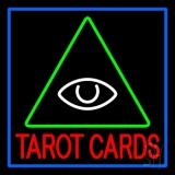 Red Tarot Cards Logo Neon Sign