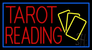 Red Tarot Reading Yellow Cards LED Neon Sign