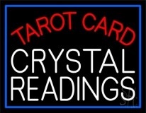 Tarot Card Crystal Readings LED Neon Sign