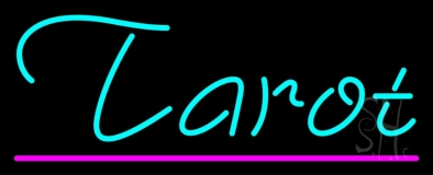 Turquoise Tarot Pink Line Neon Sign