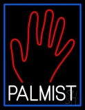 White Palmist Red Palm Neon Sign