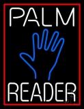 White Palm Reader Red Border Neon Sign