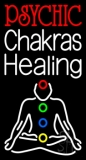 White Psychic Chakras Healing LED Neon Sign