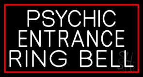 White Psychic Entrance Ring Bell Neon Sign